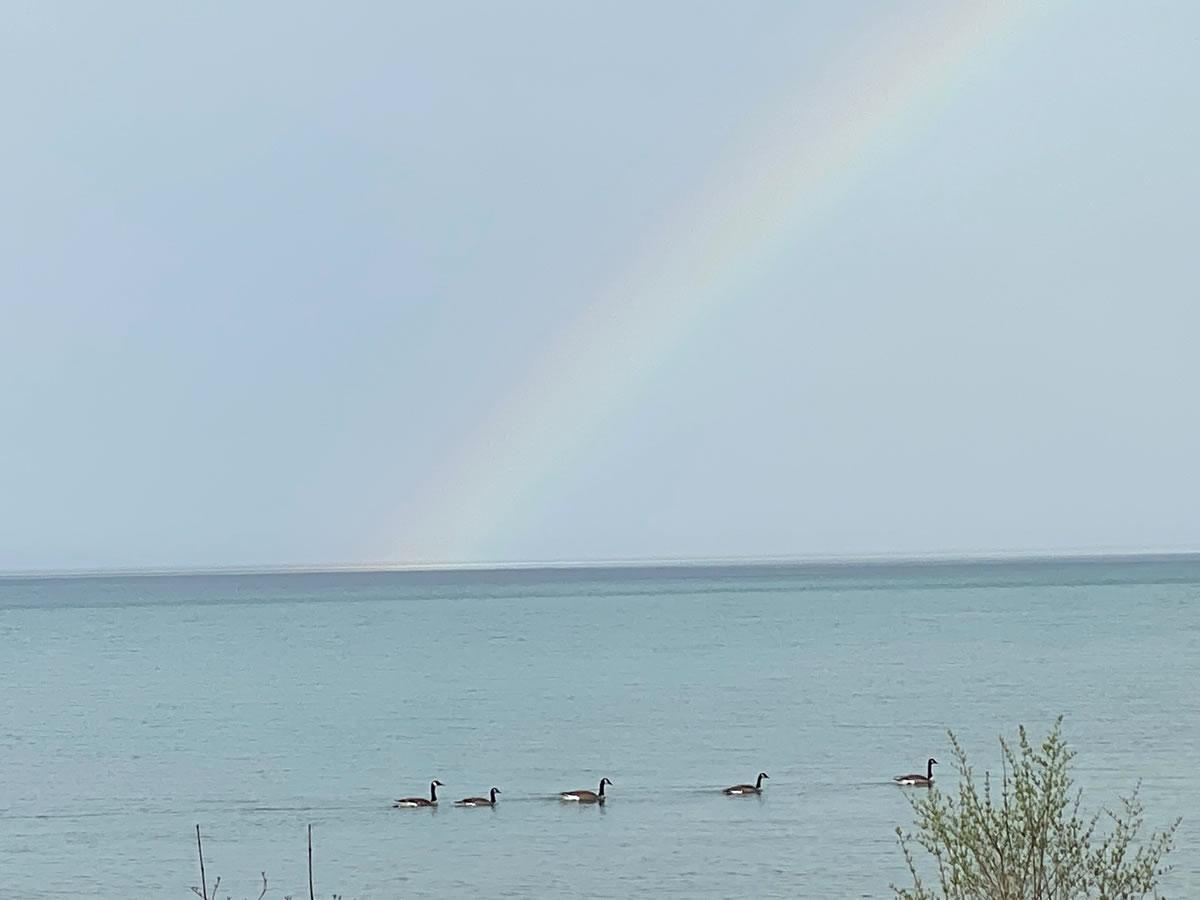 Rainbow over Lake Michigan